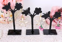 bead hanger - Pack of sets Acrylic Flower and Butterfly hoop earrings display jewelry stand pendants beads bracelet holder hanger