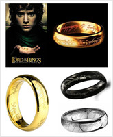 Wholesale 2015 Unisex Anillos Trendy Hot k Plated The Hobbit And Lord Of Rings Jewelry Ring For Mientras Que El Anillo Anel Bague Bijoux