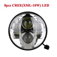 Wholesale 2016 Newest INCH Round Black Right hand LED Headlight W High Bright LED Driving Lamp K for Jeep Harley