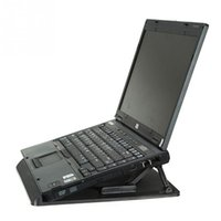 Wholesale Ergonomic Adjustable Cooler Cooling Pad With Stand Holder PC Laptop Notebook Color Black