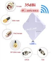 Wholesale 2015 Real Antena Wifi Gsm Antenna Powerful g Antenna dbi Gain Aerial Lte Ts9 sma crc9 For For Wireless Router