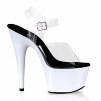 ball platform shoes - Sexy transparent white platform sandals ball cm princess shoes Inch Hand Made Unusual women s High Heel Shoes