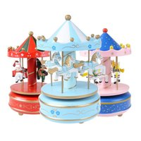 Wholesale 2016 New Arrival High Quality Wooden Merry Go Round Music Box Christmas Birthday Gift Carousel Music Box wedding decoration