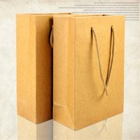 Perfume Shop - 18 cm Kraft Paper Shopping Bag With Handle Cosmetic Perfume Garment Gift Jewelry Tote Packing Bag For Boutique Packaging