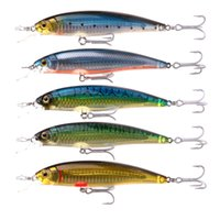 Wholesale 10pcs mm g minnow hard plastic fishing lures sea bass wobbler colors available with retail box