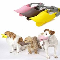 Wholesale Anti Bite Duck Mouth Shape Dog Mouth Covers Anti called Muzzle Masks Pet Mouth Set Bite proof silicone material