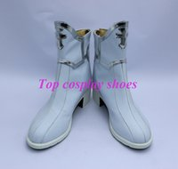 al por mayor botas asuna-Venta al por mayor-Sword Arte en línea Asuna Cosplay Zapatos Boots ver seis # TS091 Por encargo