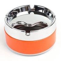 Wholesale THGS Silver Tone Orange Detachable Rotatable Lid Cigarette Smoking Ashtray quot