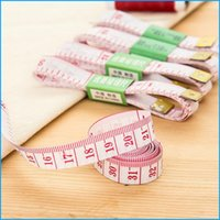 Wholesale 150 cm inch Scale Soft Plastic Ruler Flexible Rule Professional Tailoring Tape Measures Sewing Measuring Gauging Tools