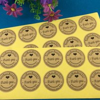 Wholesale 5000pcs self adhesive stickers cm Round Kraft Gift boxes Sealing Sticker Labels Thank You kraft sticker labels Sealing adhesive labels