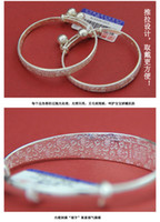 Wholesale about g simple silver bracelet s999 sterling silver thousand fine silver bracelet gift silver jewelry woman ornament