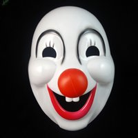 Wholesale Mask A Halloween Party Halloween Mask Clown Dressed Up Hard Plastic Clown Mask Children