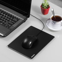 Wholesale New Zheino Gaming Aluminium Mouse Pad Smooth Surface with Non slip Rubber Base for Computers Laptops Notebook Black and Sliver