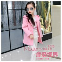Wholesale 2016 New Children outerwear coat fashion kids jackets for girls Winter jacket Warm hooded children clothing Overcoat Baby Hooded Sweatercoat