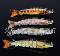 Wholesale 4Pcs quot Multi Jointed Fishing Lure Swimbait Lifelike Minnow Bait g Herring Bass Pike Muskie Wobbler jigging Fishing Tackle