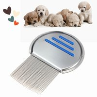 Wholesale Anoplura Flea Comb Cheopis Cootie Stainless Steel Lice Comb Grooming Brush For Dog Pet Flea Comb