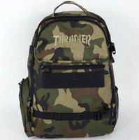 Camouflage scooter sac à dos sac d'ordinateur portable sac à dos noir occasionnel conception Hot Thrasher sac à dos sport en plein air de planche à roulettes