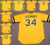 away oakland - Men CARNEY LANSFORD DAVE KINGMAN DAVE STEWART DON SUTTON Oakland Athletics Cooperstown Away Baseball Jersey stitched