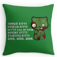 accent sofa pillows - Cool Zombie Kitty Home Decorative Accent Throw Pillow Cover Cushion Case Pillow Sham for Sofa Pillow Cover Cushion Case