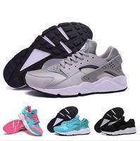 Wholesale 2016 New Huarache Shoes Black White Grey Orange Blue For Men Women Air Sports Trainers Breathable Huaraches Sneaker Size