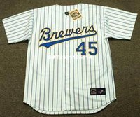 Wholesale ROB DEER Milwaukee Brewers Majestic Cooperstown Home Baseball Jersey