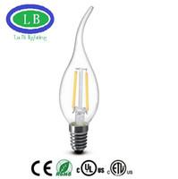 Wholesale led light Edison Filament Dimmable Candle Lamp CA35 W E14E12 V220V K Led Bulbs Light High Bright led lamp e27 candle light