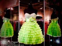 arts tires - Lime Green Short Homecoming Dresses Beaded Sweetheart Tired Tulle Ball Gown Bow Mini Prom Gowns th Junior Party Queen Cocktail Dress