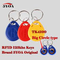 Venta al por mayor-10Pcs RFID etiqueta clave Fob Keyfobs anillo llavero Token 125Khz Proximidad tarjeta de identificación Chip TK EM 4100/4102 para el control de acceso de asistencia