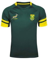 africa t shirt - South Africa Rugby Jerseys Best Quality Adult Mens Rugby Kits Dark Green Thai Edition T shirts Factory New Arrivals