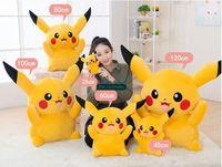 achat en gros de grand oreiller peluches-Dorimytrader Japan Anime Pikachu Toy peluche peluche Pikachu Grand Cartoon Doll Oreiller Bons Enfants Present Livraison gratuite DY61143