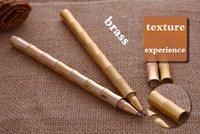 Wholesale Brass Copper Gel Point Pen Anique Bamboo Shape Handmade Shiny Gift Pen