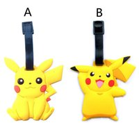 Wholesale 2016 New Poke Pikachu Cartoon Crayon luggage tag pendant tag Silica Gel In retail packaging XL P36