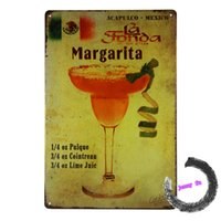 ad cocktail - Metal crafts Margarita Cocktail Ads Tin Sign Metal Plaque Pub Bar Decor D105