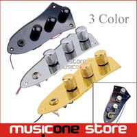 assembly load - Wired Loaded Prewired Control Plate Harness Assembly Knobs and jack for Electric Bass Black Silver Gold