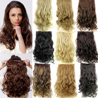 Wholesale 5 Clip in Hair Extensions quot g Long Curly Hair Extensions Cheap Synthetic Hair Piece Multicolor Available