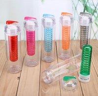 Wholesale hot Tritan Solid Fruit Infuser Water Bottle Flip Top Lid Tritan Cup oz ml Color