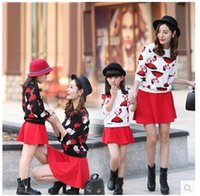 Wholesale 2016 The New Fashion Parent child outfit spring mother and daughter with the girl s mother and son filial installed two piece suit children