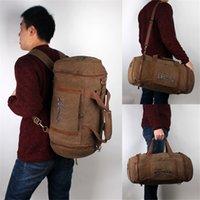 barrel bag gym - Large Capacity Sport Style Nylon Travel bag Outdoor Shoulder Bag Gym Bags Barrel shaped Bag Men Backpacks