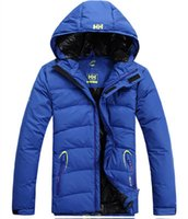 Wholesale Top Quality Helly Hansen Brand Mens Winter hooded warm Goose down jacket waterproof jackets outdoor sport snowboard suits