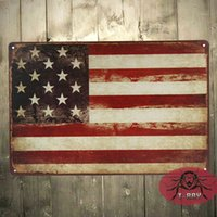 Wholesale Vintage Metal signs USA flag wall decor House Office desk Metal Paintings D CM