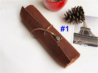 Wholesale style PU Vintage pirate map roll pencil case pen pouch pen cosmetic bag pencil bags