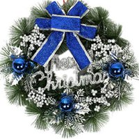 Wholesale 2016 Christmas Wreath Colors Pine Needles Christmas Decoration For Home Party Diameter cm Navidad New Year Supplies