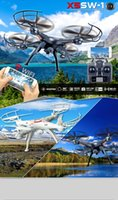 Wholesale X5SW WIFI RC Drone fpv Quadcopter with Camera Headless G Axis Real Time RC Helicopter Quad copterToys Support VR box
