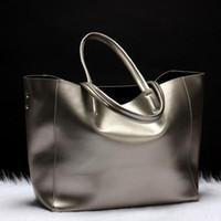 Wholesale high end quality fashion genuine leather shoulder bag women handbag brand designer large shopping bag casual tote cowhide