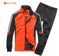 Wholesale 2016 spring and autumn men sport suit adult early morning runs men tracksuits adult clothing size L XL colors