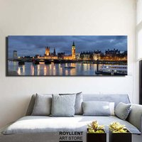 abstract photography - Panoramic Photography New York London City Landscape Picture Canvas Print Painting For Home Decoration Unframed RA0025