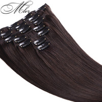 virgin brazilian hair clip in - Hot Sale quot quot Set Peruvian Clips In Human Hair Extensions g g A Grade Clip In Virgin Human Hair Extensions