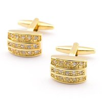 jewelry made in china - 2016 Jewelry Gold Three Layers Crystal Gold Cufflinks china Fashion Gold Plated Cufflinks for Men Fashion jewelry made in china