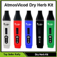 Cheap 2016 New Dry Herb Vaporizer Kit E Cigarette Kits AtmosVicod Kits Huge Vape Pen 2200mah Battery VS Firefly Dry Herb Vaporizers