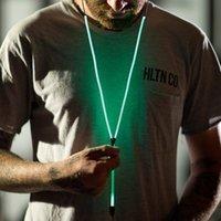 Universal Metal Zipper Écouteurs lumineux colorés Écouteurs intra-auriculaires dans les écouteurs foncés Visibles Flowing Light Sports Running Hands-free Earbud